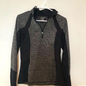 Black and grey tek gear long sleeve sweatshirt